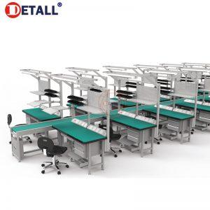 1-esd-workbench-line-with-belt-conveyor