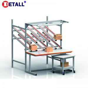 21 Packing Table With Flow Rack